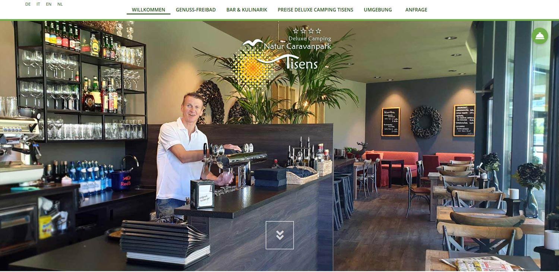Camping Tisens: realizzazione sito web, grafica, marketing, newsletter e traduzioni professionali