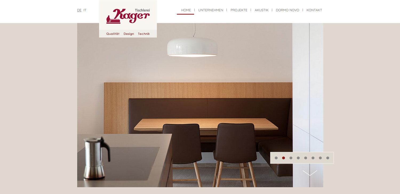 Falegnameria Windegger: creazione siti internet e altri progetti web Profi Webmedia