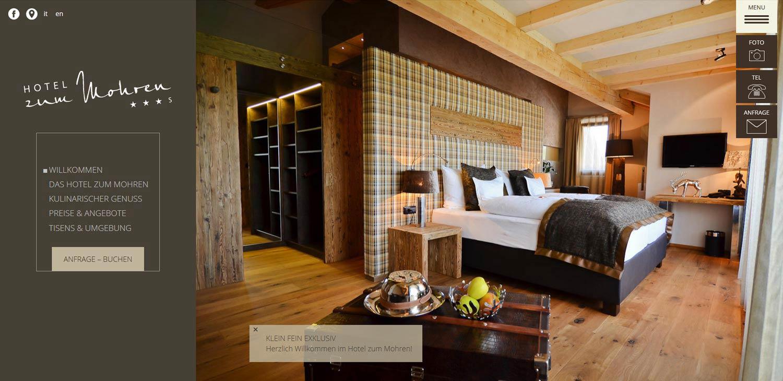 Hotel zum Mohren: realizzazione sito web, grafica e traduzioni professionali