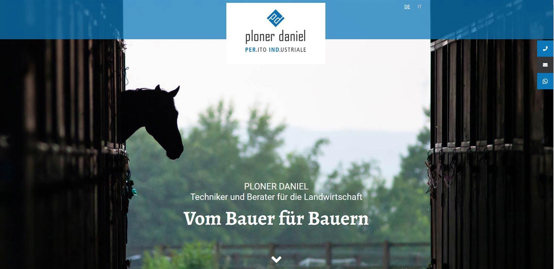 Ploner Daniel: creazione siti internet e altri progetti web Profi Webmedia