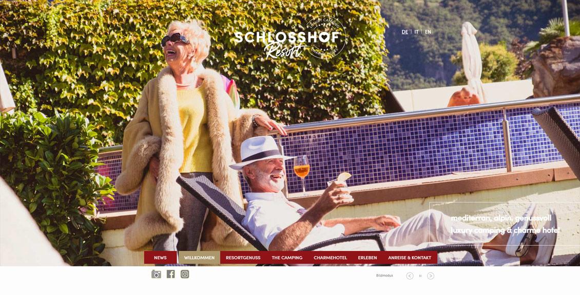 Camping Schlosshof: realizzazione sito web, web marketing, newsletter, grafica e traduzioni professionali