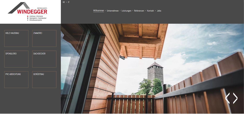 Falegnameria Windegger: creazione siti internet e altri progetti Profi Webmedia